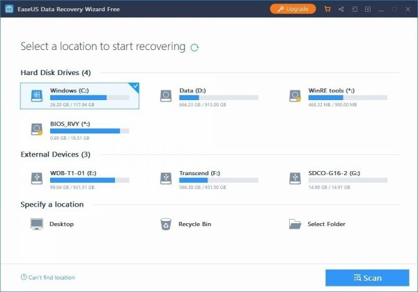 EaseUS Data Recovery Wizard 13.6.0 free download for window