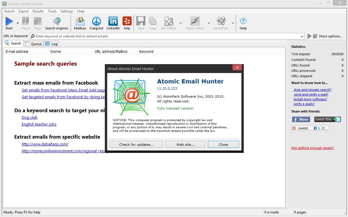 Atomic Email Hunter 15 free download