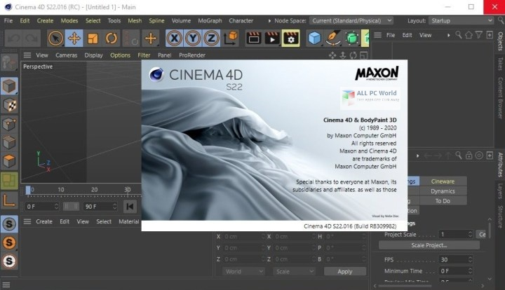 CINEMA 4D S22 free download for window