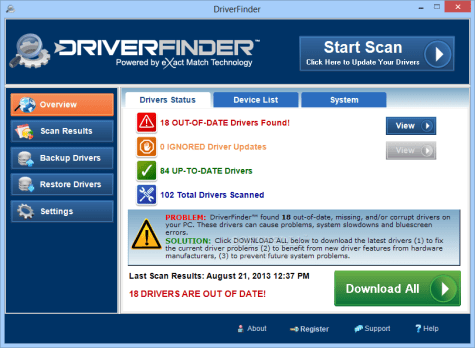 DriverFinder Pro free for window