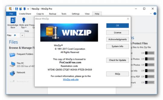 WinZip Pro 25 free for window